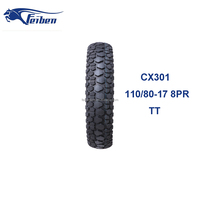 CHINESE MADE MOTORCYCLES NICE QUALITY CX301 TIRE MANUFACTURE MOTORCYCLE TYRE 110/80-17 OFF ROAD