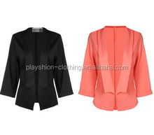 Autumn hot sale Pure color toward Small cardigan suit women coat