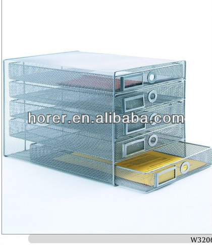 Wire mesh decorative office storage boxes