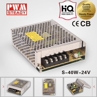 CE approved 40w 24v Factory Outlet Aluminum Enclosure Power Supply 24v 1.65a Led Driver S-40-24