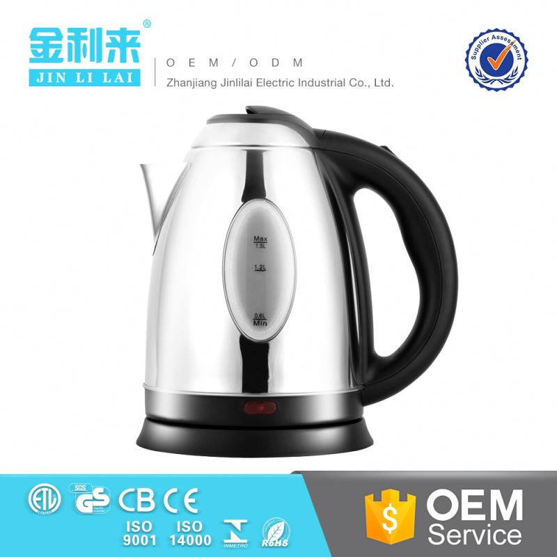 New products for home appliances 1500W electric kettle with lowest factory price