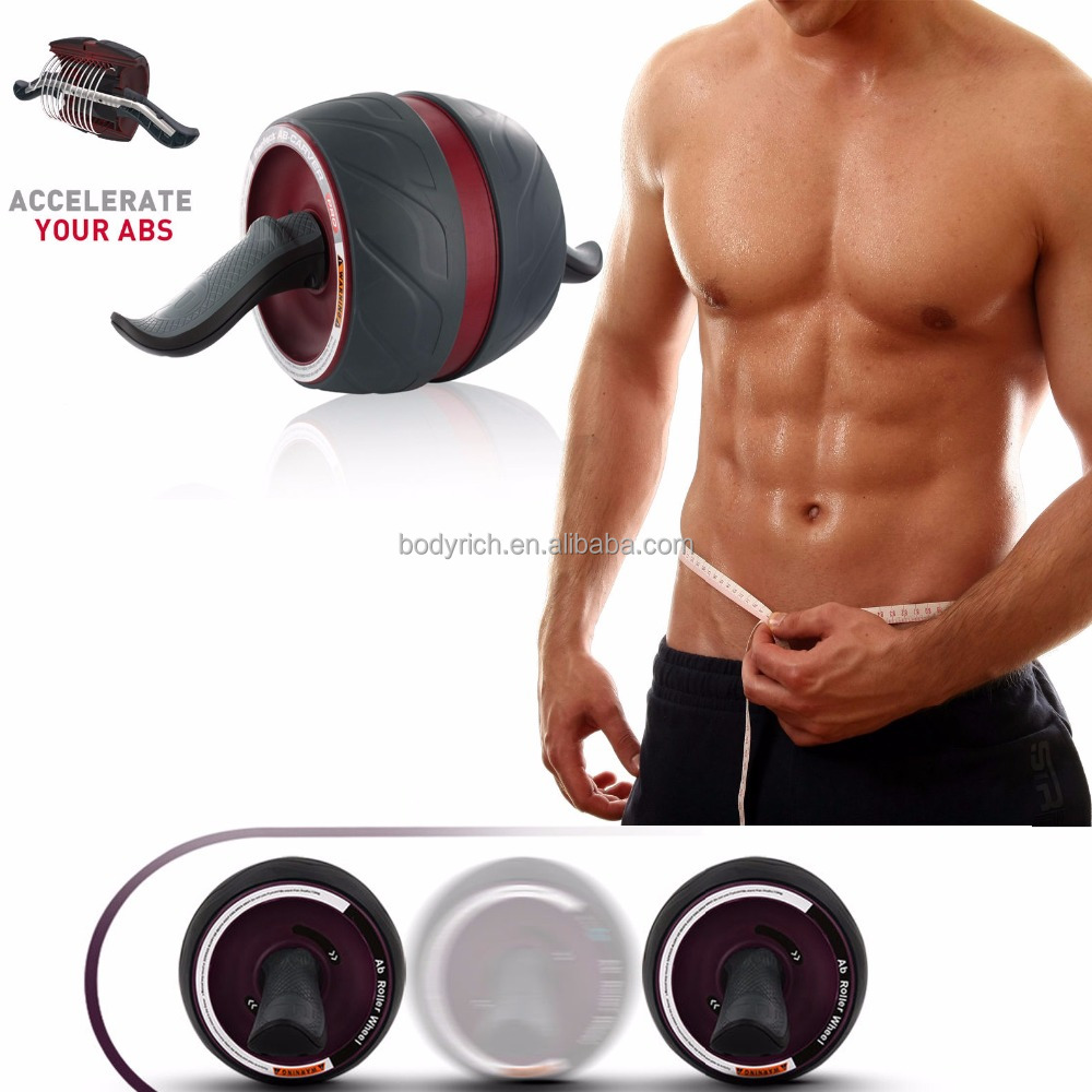 Ab Fitness Gym Wheel Roller Abdominal Exerciser Abs Carver Training Body Machine