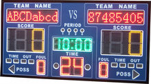 Ultra bright cheap factory price easy operation wireless/wired control electronic score board