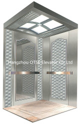 Hangzhou OTSE passenger elevator of hairline stainless steel cabin for 630kg 8 person