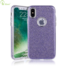 Beautiful Electroplating Style Hybrid Crystal Bling Glitter Phone Cover Case For iPhone X