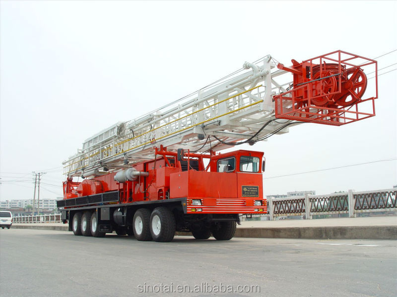 The lowest price!! Oilfield Truck-Mounted Drilling Rig from China supplier