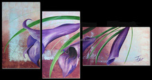 Handmade Modern Group flower Oil painting,six calla lily