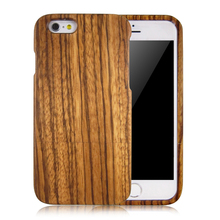 Good quality zebra wood phone case for iphone6, pure full wooden back case, natural wood phone cover for iphone6