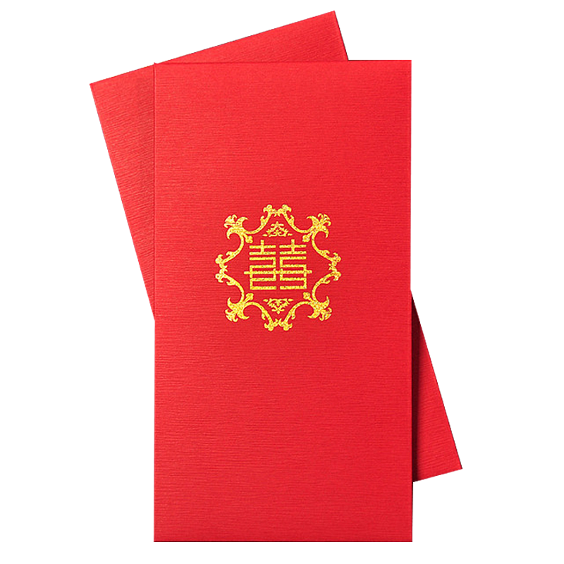 2018 Custom Printed Chinese New Year Red Paper Envelope With Foil Stamping