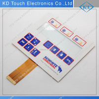 OEM membrane switch keyboard with window for industrial