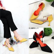 LM3386Q High heel single shoes pearl pointed women wedding shoes