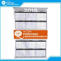 Custom full color one sheet clip binding wall calendar printing 2017