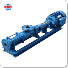 Hengbiao G Type helical rotor sewage treatment plant sludge slurry transfer waste water circulation pumps single screw pump