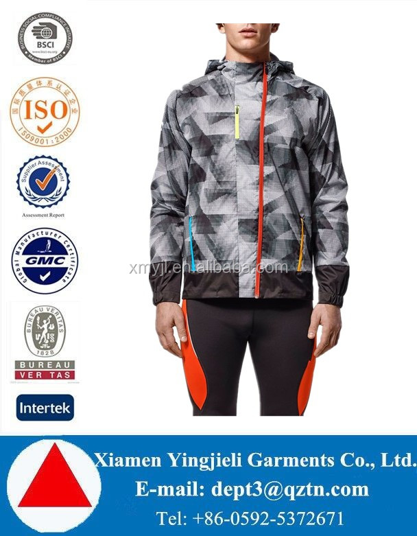 High Quality Rip-stop Mens Waterproof wind jacket