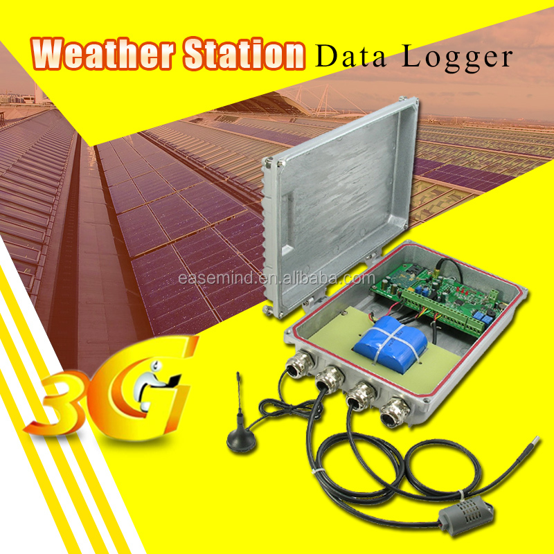 Wireless Weather Station Data Logger monitoring systems for solar panels