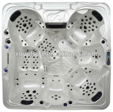 150 pcs jets whirlpool bathtub used spa hot tub with 2 lounge led lights