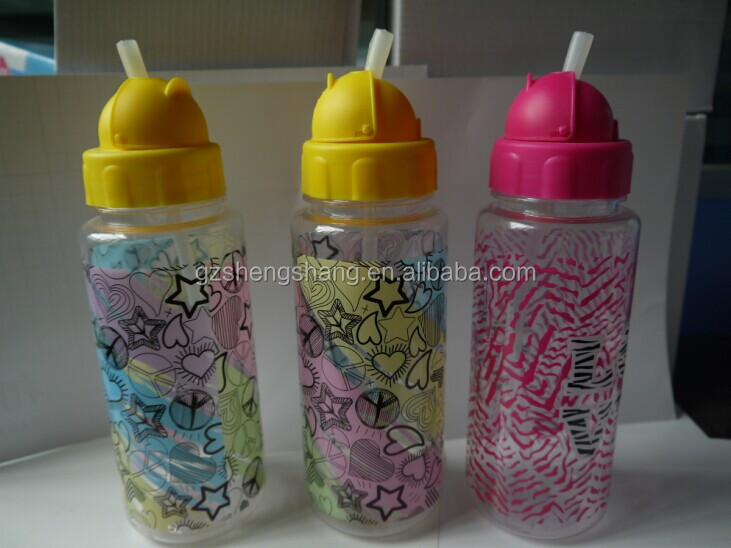 2017 insulated plastic sport water bottle with straw