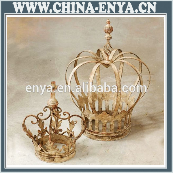 Metal Wall Crown Decor : Metal decoration decorative porcelain crown antique