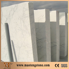 Natural Stone Polishing Pure White With Veins Statuary Marble Slab