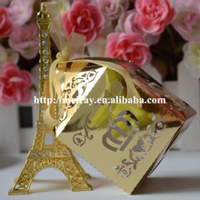 Lovely metallic gold baby favor box birthday favors box wedding souvenirs