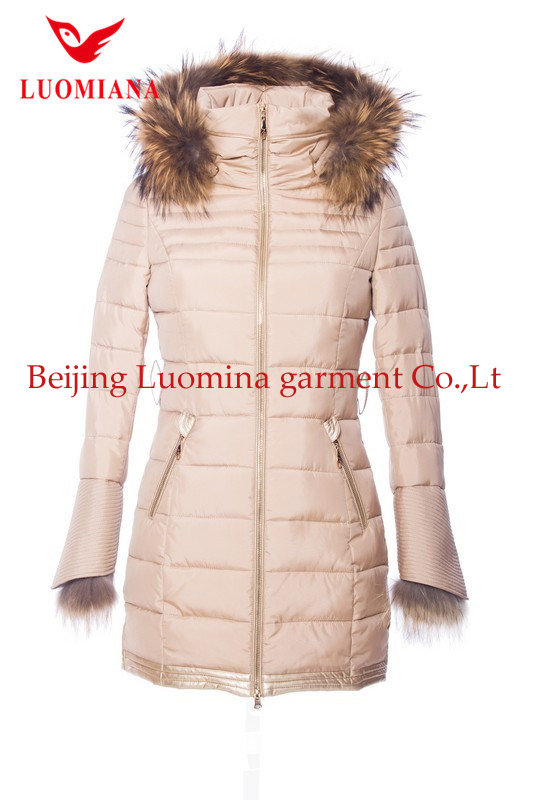 top brand long down feather winter clothing for women 2015