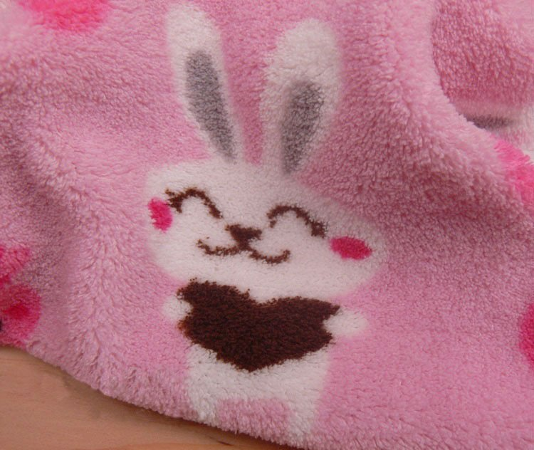 2013 New design printed coral fleece blanket,animal pattern coral fleece fabric, bunny printed coral fleece