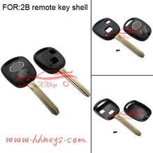 Best price 2 button car remote control key shell key blank for Toyota
