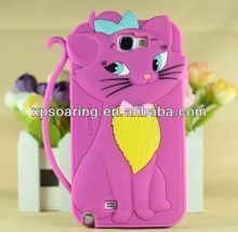 Charm Cat soft case skin cover for Samsung galaxy Note II N7100