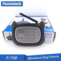 100% No Wire - Wire-Free Wireless E Dog Fence System - 2 Rechargeable Waterproof Receiver Collar - 200M Radius Remote Control
