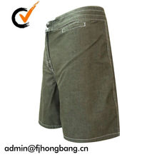 Mens Drawstring Elastic Waistband Acid Wash Blue Denim Shorts