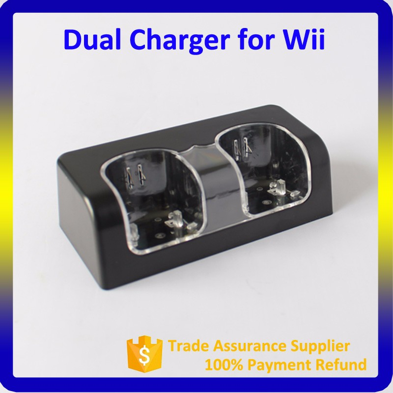 High Quality Two 2800mAh Battery For Wii Dual Charger For Nintendo