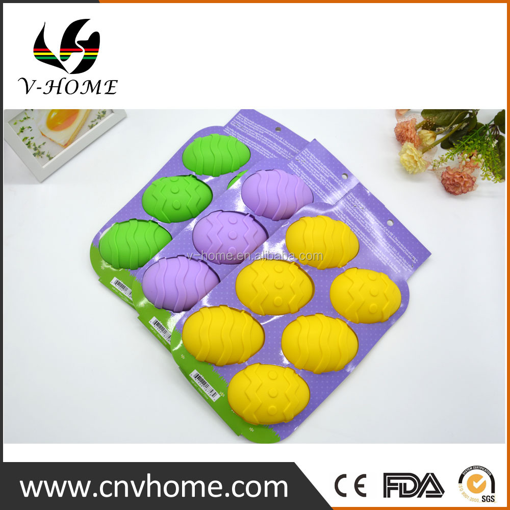 Gold Supplier Reusable BPA Free Silicone Easter Egg Cake Mold