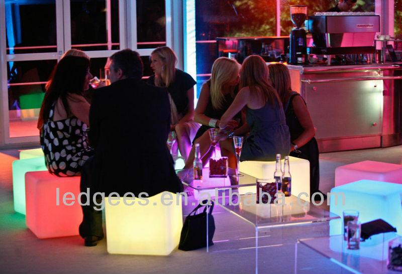 RGB led cube mesa de luz / RGB llevada decorativa cubo de luz RGB ...