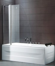 Frameless Shower Screen with Aluminum alloy walk in bath shower combo