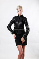 High Quality Black Sheep Leather & Lamb Skin Jacket For Women