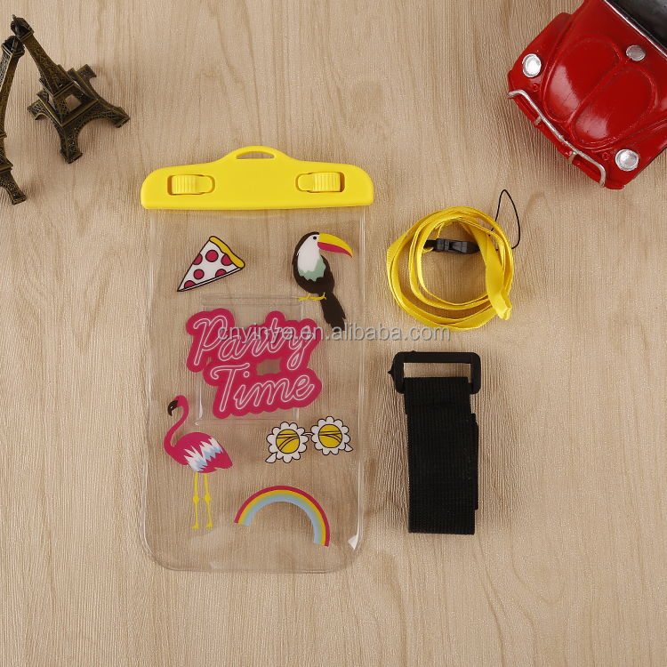 Fancy style mobile phone bag/waterproof cell phone bag/pvc waterproof dry bag