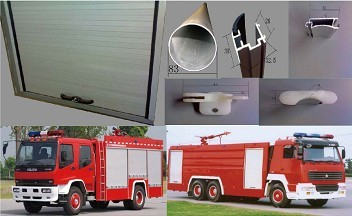 Aluminum roller shutter for fire truck 104000