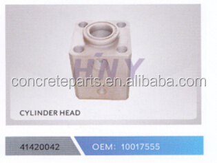 schwing cylinder head for concrete pump truck parts