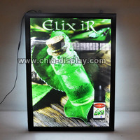High quality advertising super thin aluminum frame slim light box led backlit picture frame