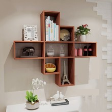 Attractive Modern Design Wood Bookcase Wall Shelf For Sale