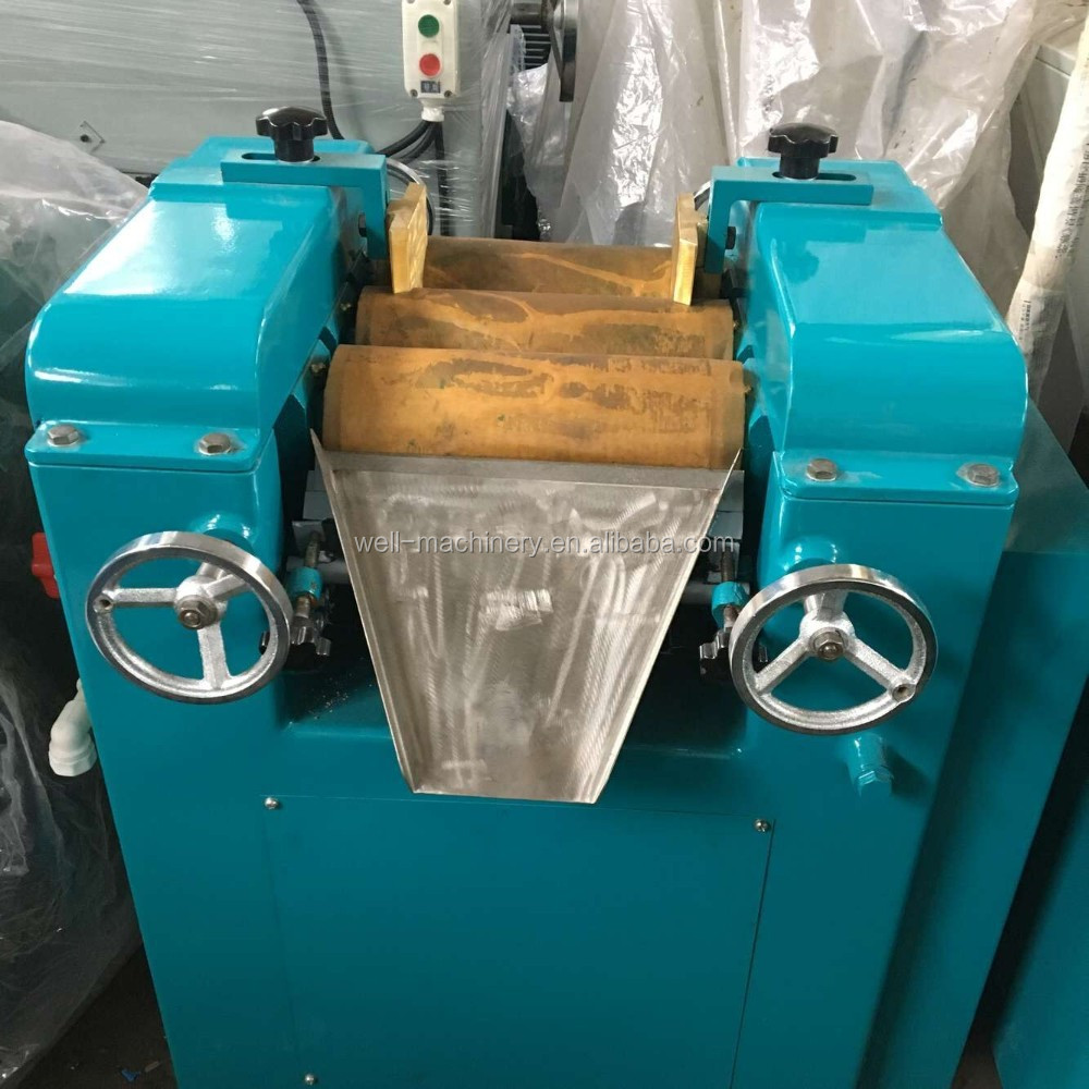 Three roller milling machine for soap