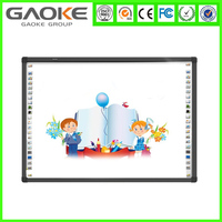 2015 TOP SALE 78 inch smart board for sale magnetic with dual digital pens electronic glass board 4 users finger writting
