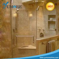 Fashion bath accessories double door rollers shower door handle hardware