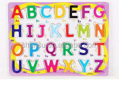 Alphabet letter chirdren DIY educational toys wooden puzzle factory