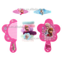 2016 New Eco-friendly PVC Frozen fashion and useful gift sets pf plastic hand mirror and hand comb