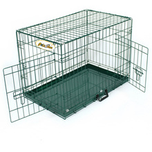 Large Pet Crate Dog Cat Metal Cage Animal Kennel Portable Folding Suitcase Doors