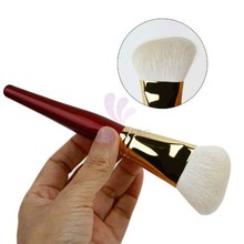 2016 New Product Top Quality Luxury First Class Goat Hair Copper Ferrule Angled Face Kabuki Powder Brush