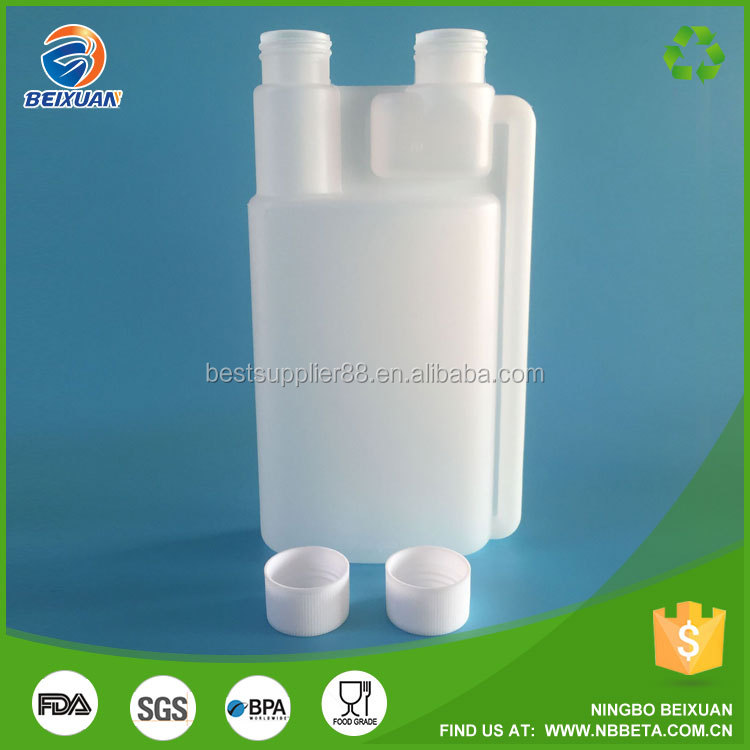 500ml white Double neck Plasticfuel oil bottle Plastic fuel additive bottle