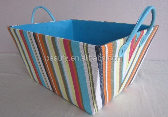 cheap neat paper straw storage basket