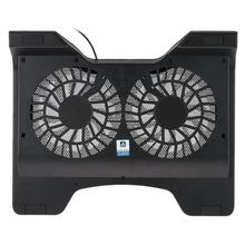 "iDock Laptop USB Cooler Pad Cooling Base Chill Mat Radiator with Two 140mm LED Fans for 12""-16"" Notebook 3 Colors"